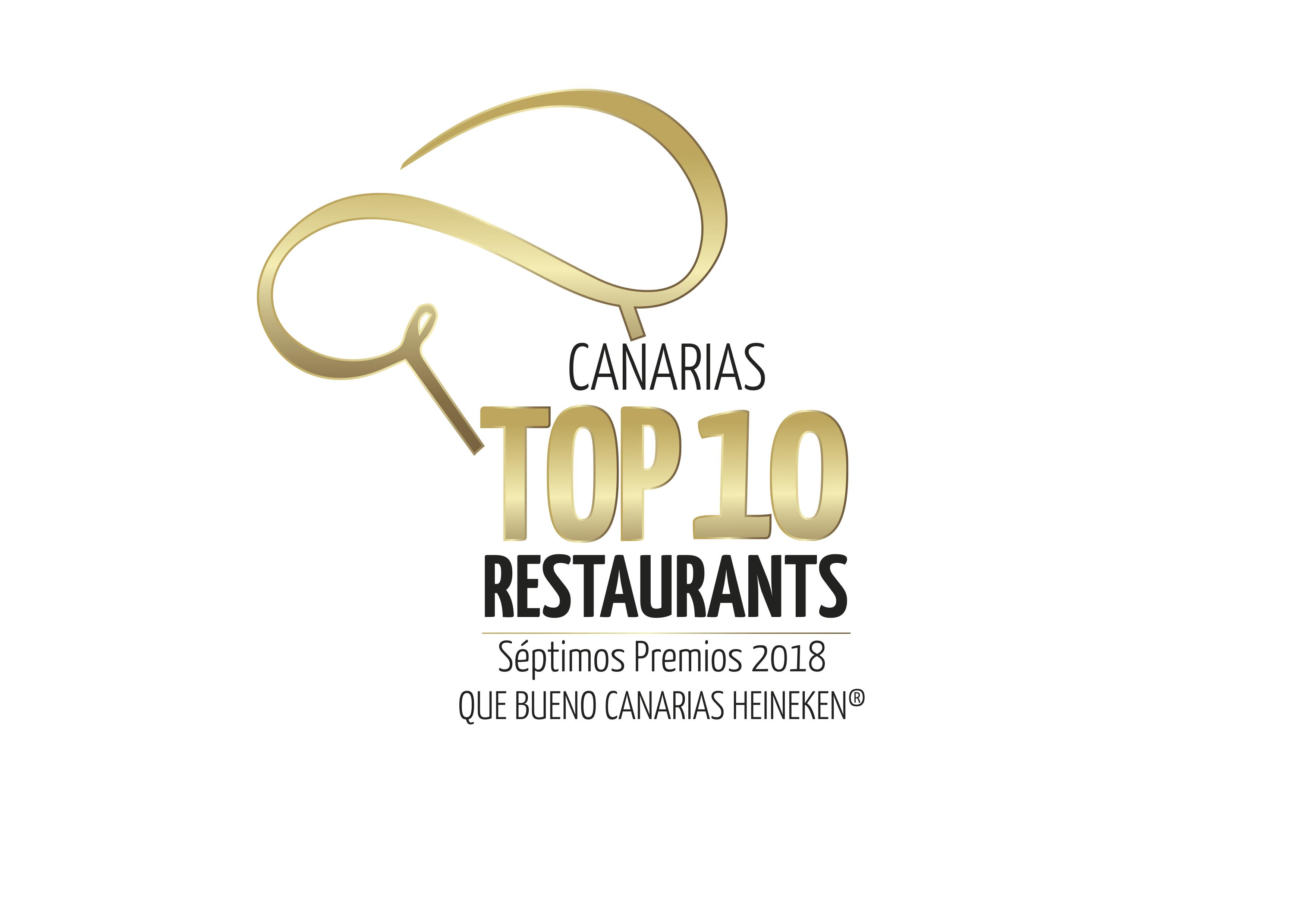 VII Edición de los Premios Qué Bueno Canarias Heineken Top 10 Restaurants