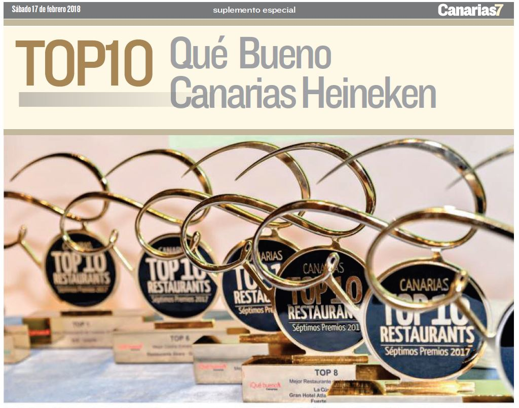 Portada especial canarias 7 Premios Top10 Qué Bueno canarias Heineken